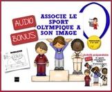 SmartBoard/Associe le sport olympique à son image/Préscolaire/French
