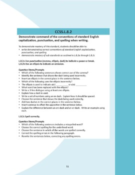 Common Core Question Stems and Annotated Standards for ELA Grade 8 - Bundle