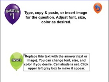 SmartNotebook Balloon POP Template w/ How to Create Instructions