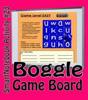 SmartNotebook Boggle Game - Ready to Play