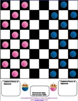 SmartNotebook Checkers Game