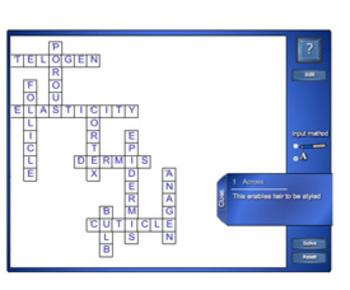 SmartNotebook Crossword Template