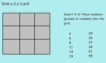 SmartNotebook - Estimation Bingo