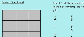 SmartNotebook - Multiply and Add fractions Bingo
