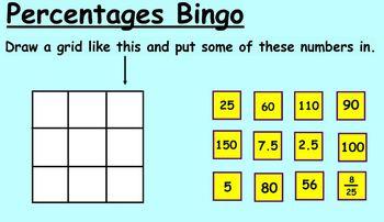 SmartNotebook - Percentages Bingo