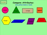 Common Core Math Geometry: 3D Solid Shapes and Flat Shapes