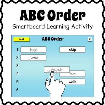 Smartboard ABC Order Activity