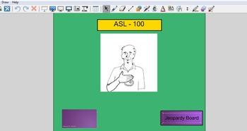 Smartboard ASL Jeopardy game