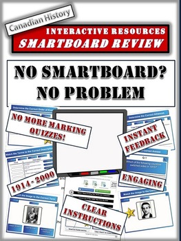 Canadian History Smartboard Files - 10 Files and 90 Slides