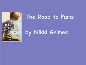 Road to Paris by Nikki Grimes Smartboard Activities