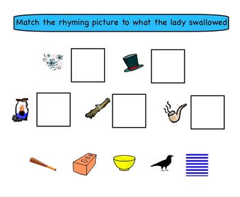 Smartboard Activity: There Was A Cold Lady Who Swallowed Some Snow