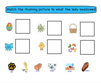 Smartboard Activity: There Was an Old Lady Who Swallowed a Chick