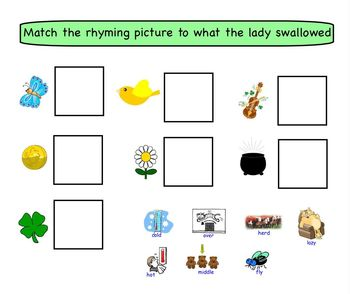 Smartboard Activity: There Was an Old Lady Who Swallowed a Clover