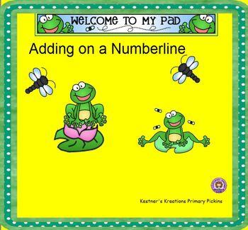 Smartboard Adding Using a Number Line