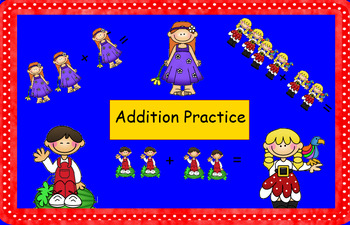 Smartboard Addition Practice with Pictures