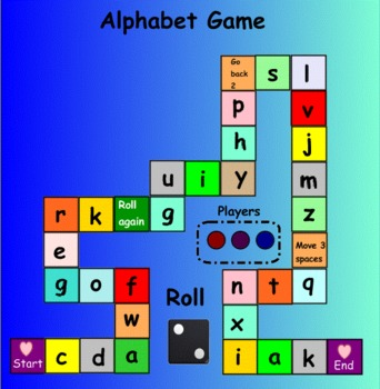Smartboard: Alphabet Game (Lowercase)