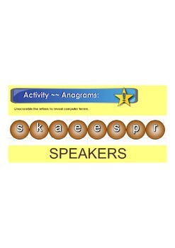Smartboard -- Anagram Computer Terms