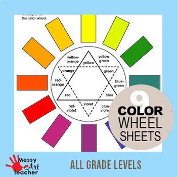 Art Color Wheel Worksheets 7 pages