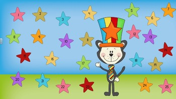 Smartboard Attendance - Cat in a Circus Hat Theme for SmartBoards or Powerpoint