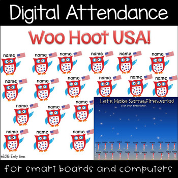 Patriotic Digital Attendance (Smart Boards and Computers)