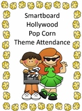 Smartboard Attendance Hollywood Popcorn Movie Theme