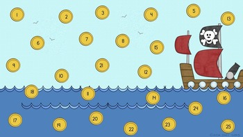 Pirate Theme - SmartBoard Attendance for SB or Powerpoint