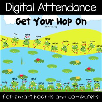 Smartboard Attendance PowerPoint - Frog Hop FREEBIE