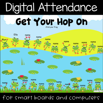 Frog Hop Digital Attendance (Smart Boards and Computers)