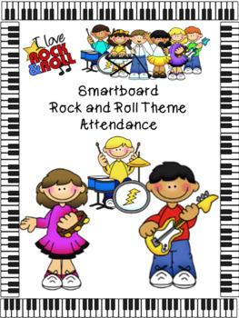 Smartboard Attendance Rock-n-Roll Theme