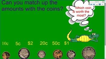 Smartboard Australian Money