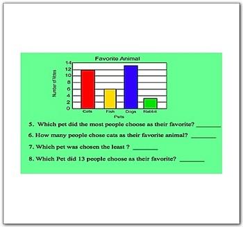 Smartboard Bar Graph Pie Graph Line Graph PictoGraph Lesson Pack