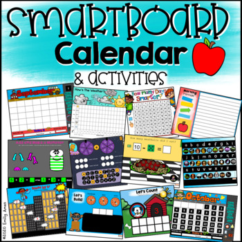Smartboard Calendar FUN - 12 months PLUS Common Core Activities