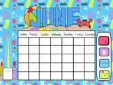 Smartboard Calendar June
