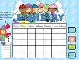 Smartboard Calendar January