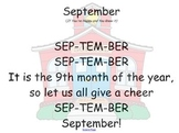 Smartboard Calendar and Songs for Each Month