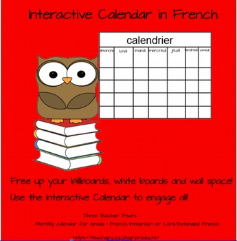 Smartboard Calendar in French