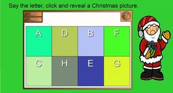 Smartboard Christmas Letter Puzzles