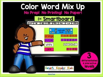 Smartboard Color Word Mix Up All Colors