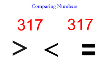 Smartboard Comparing Numbers