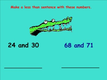 Smartboard: Comparision Symbols Less Than and Place Value