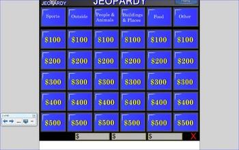 Smartboard Compound Word Jeopardy Game