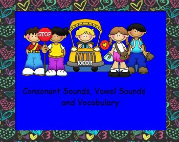 Smartboard Consonant , Vocabulary, Long or Short Vowel Review
