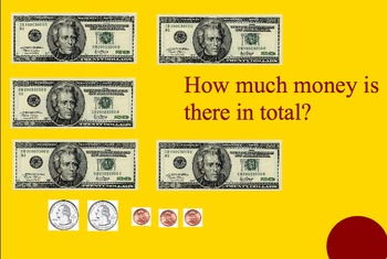 Smartboard Counting Money and Making Change Koosh Game