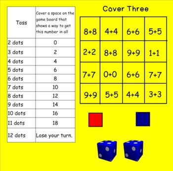 Smartboard Cover Three Doubles Center Group Activity