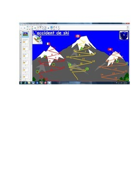 Smartboard DIRECT & INDIRECT Objects ski game