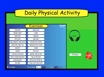 Smartboard:  Daily Pysical Activity Guide