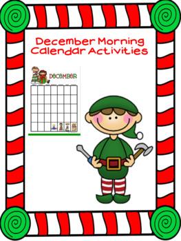 Smartboard December Calendar Math Activities