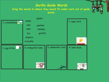 Dictionary Activities Smartboard Lesson