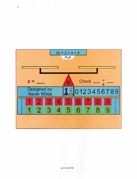 Smartboard Equations Template