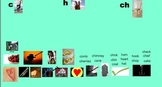 Smartboard Words Their Way Alphabetic Sort 14-C, H, & CH Pictures, Words & Games